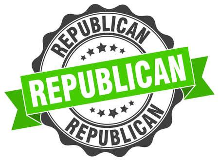 republican stamp. sign. seal