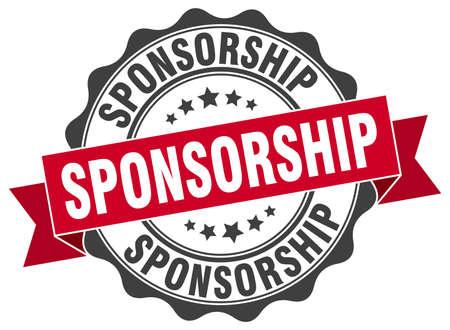 sponsorship: sponsorship stamp. sign. seal