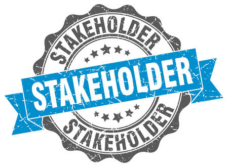 stakeholder: stakeholder stamp. sign. seal