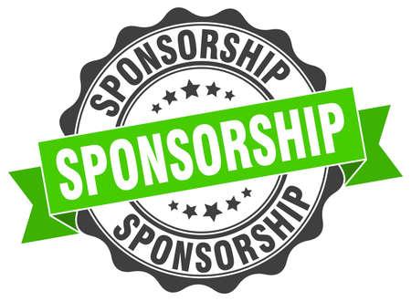 timbro sponsorizzazione. segno. foca