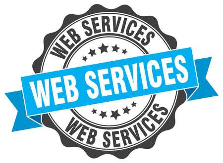 web services: web services stamp. sign. seal Illustration
