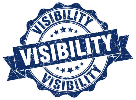 visibility: visibility stamp. sign. seal Illustration