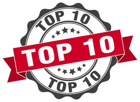top 10 stamp. sign. seal Illustration