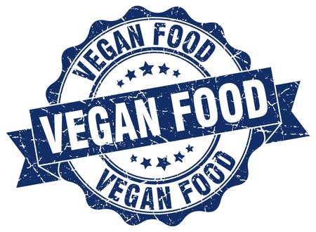 vegan food: vegan food stamp. sign. seal