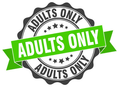 adults only stamp. sign. seal