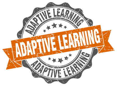adaptive learning stamp. sign. seal Illustration