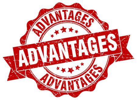advantages: advantages stamp. sign. seal