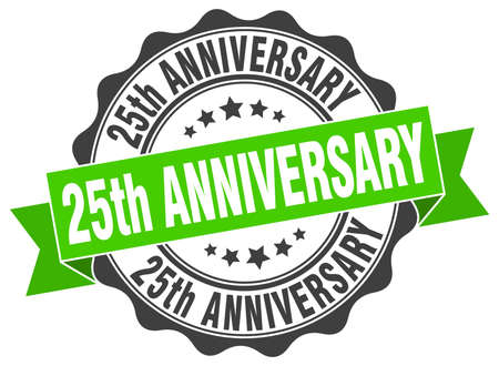 25th: 25th anniversary stamp. sign. seal