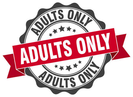 adults: adults only stamp. sign. seal