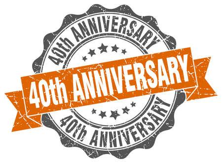 Francobollo 40 ° anniversario. segno. foca