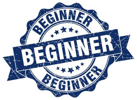 beginner: beginner stamp. sign. seal