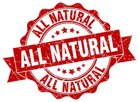 all natural stamp. sign. seal