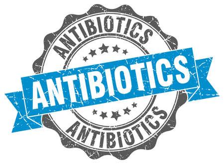 antibiotics: antibiotics stamp. sign. seal Illustration