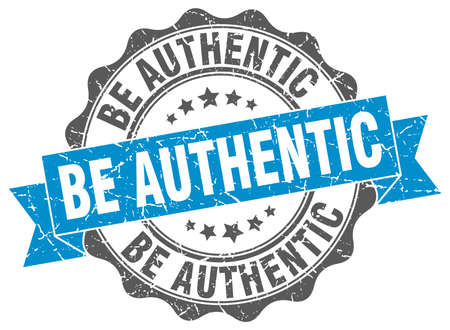 authentic: be authentic stamp. sign. seal Illustration