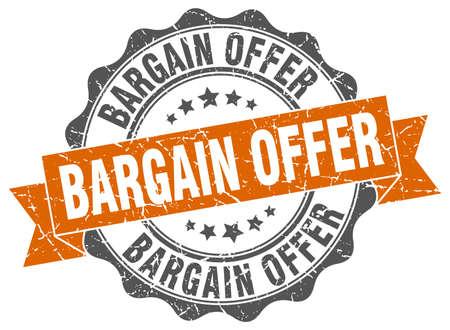 bargain offer stamp. sign. seal Illustration