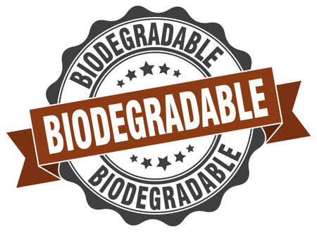 biodegradable: biodegradable stamp. sign. seal Illustration