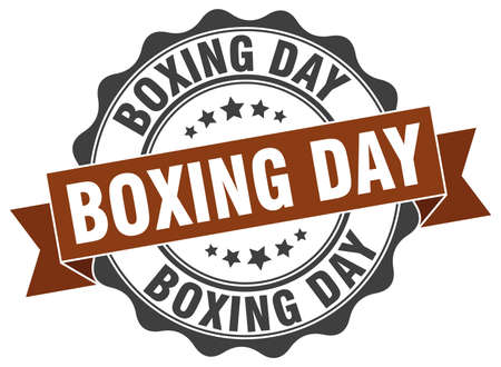 boxing day stamp. sign. seal