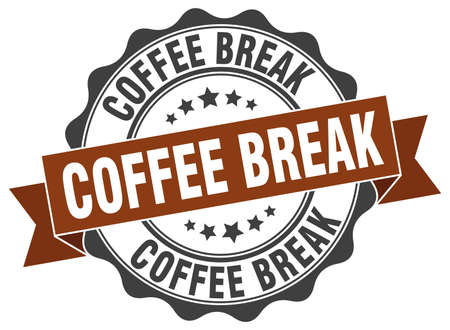 coffee break: coffee break stamp. sign. seal Illustration