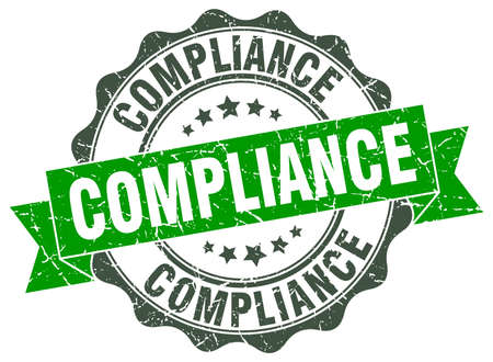 compliance: compliance stamp. sign. seal Illustration