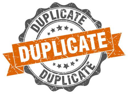 duplicate stamp. sign. seal