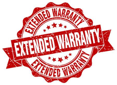 warranty: extended warranty stamp. sign. seal Illustration