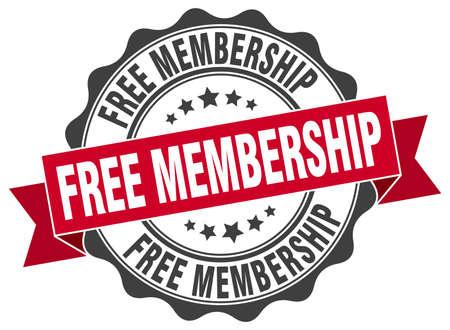 free membership stamp. sign. seal
