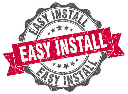 install: easy install stamp. sign. seal Illustration