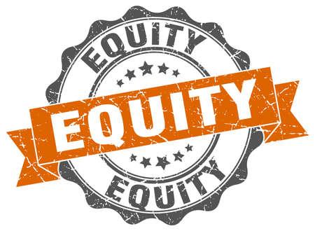 equity stamp. sign. seal Illustration