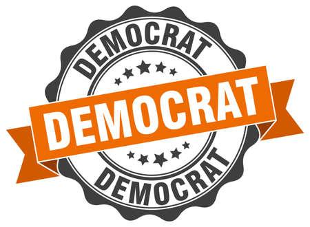 democrat: democrat stamp. sign. seal