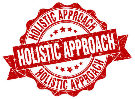 an approach: holistic approach stamp. sign. seal