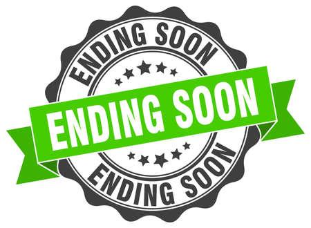 ending soon stamp. sign. seal Illustration