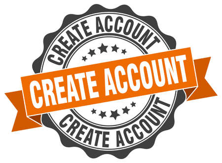 account: create account stamp. sign. seal