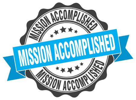 mission accomplished stamp. sign. seal
