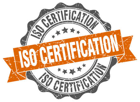 certification: iso certification stamp. sign. seal