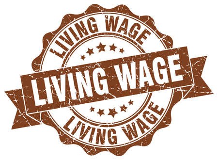 salarios: viviendo sello de salarios. firmar. sello