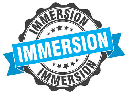 immersion: immersion stamp. sign. seal