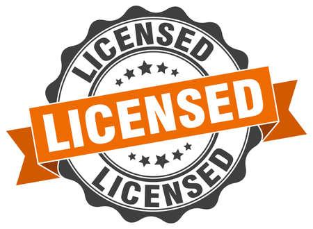 licensed stamp. sign. seal Illustration