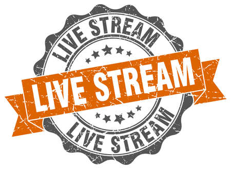stream: live stream stamp. sign. seal