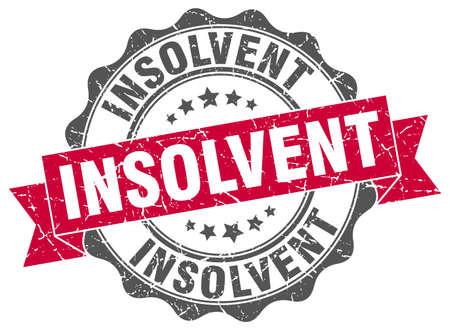 insolvent: insolvent stamp. sign. seal Illustration
