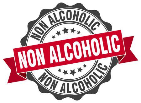 non: non alcoholic stamp. sign. seal