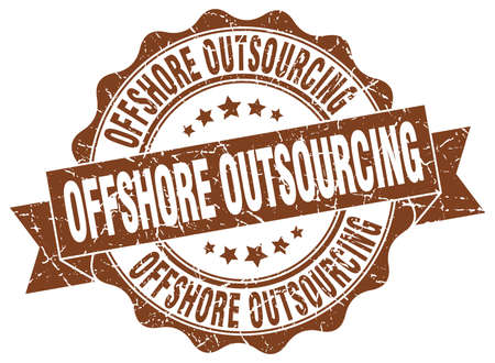 offshore outsourcing stamp. sign. seal