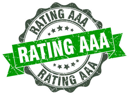 rating aaa stamp. sign. seal Illustration