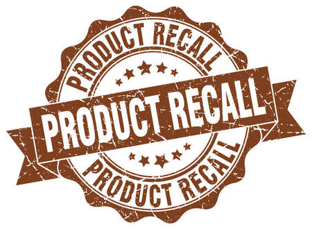 product recall stamp. sign. seal