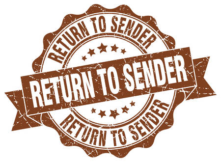 return to sender stamp. sign. seal