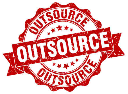 outsource: outsource stamp. sign. seal