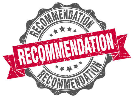 Recommendation Stamp. Sign. Seal Royalty Free Cliparts, Vectors ...