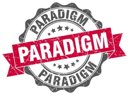 paradigm: paradigm stamp. sign. seal