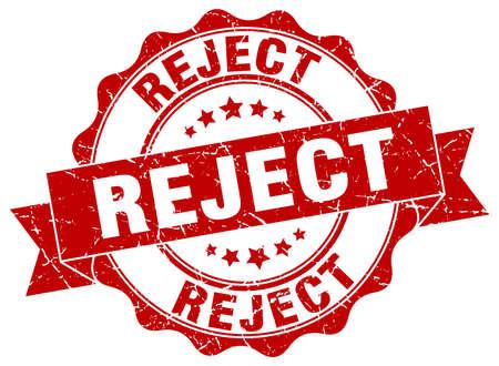 reject: reject stamp. sign. seal Illustration