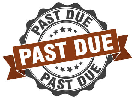 the past: past due stamp. sign. seal Illustration