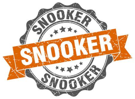 billiard: snooker stamp. sign. seal Illustration